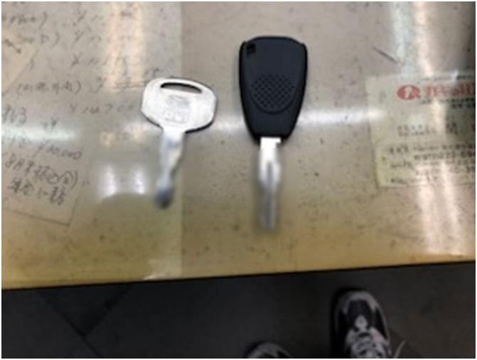 【左が作製した合鍵】